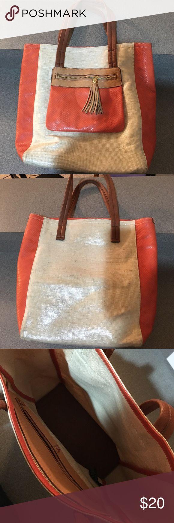 Orange and cream shoulder bag Perfect shoulder bag for work or play! Relic Bags Shoulder Bags