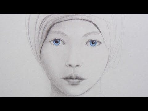 How to Draw a Face and Blue Eyes - YouTube