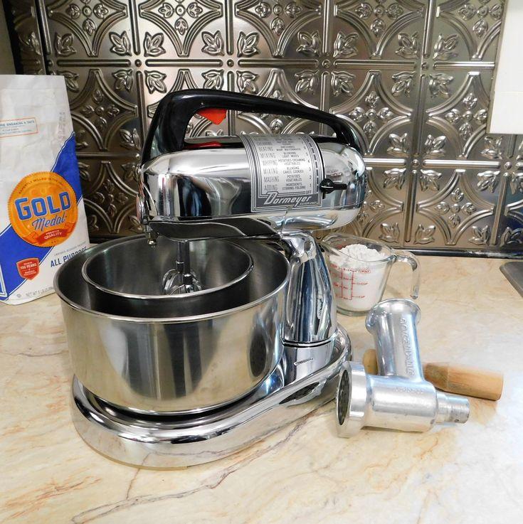 Electric mixerchrome dormeyer silver chef stand mixer
