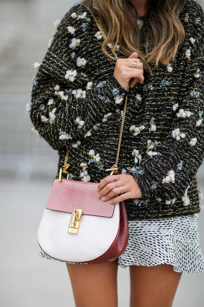 white and red chloe drew bag inspiration post