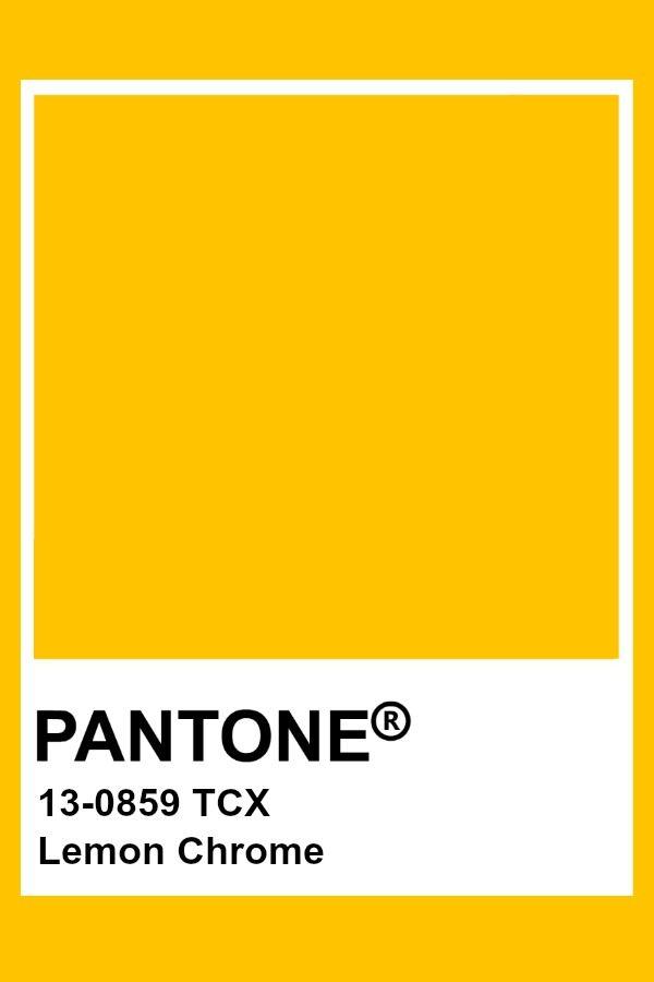 Pantone Lemon Chrome Colour Palettes