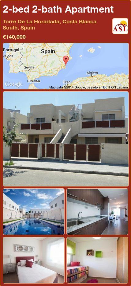 2-bed 2-bath Apartment in Torre De La Horadada, Costa Blanca South, Spain ►€140,000 #PropertyForSaleInSpain