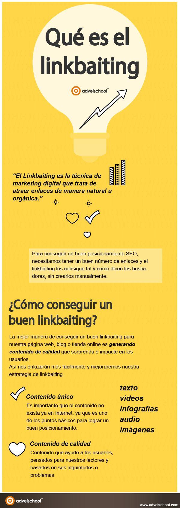 Hola: Una infografía sobre Qué es el Linkbaiting. Vía Un saludo