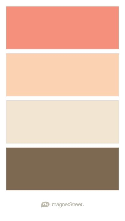 Coral, Peach, Champagne, and Latte Wedding Color Palette - custom color palette created at MagnetStreet.com