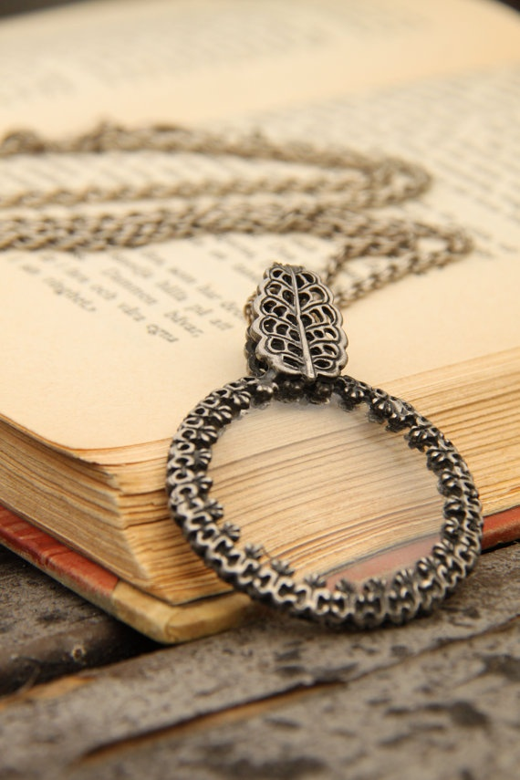 14 best magnifying glass pendants images on pinterest magnifying vintage necklace with magnifying glass vintage pendant free worlwide shipping mozeypictures Image collections