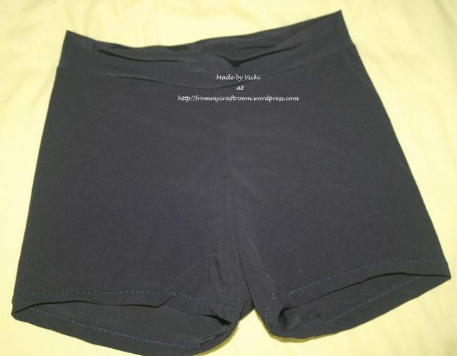 Child's bike shorts/netball knickers from dance pattern