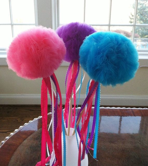 6 Tulle Princess Wands Any Color by sweetpartyshop on Etsy, $21.00