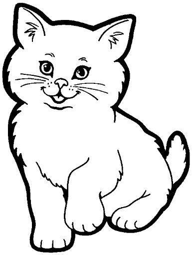Gato Para Colorir Coloring Page Pinterest Cat Coloring Page