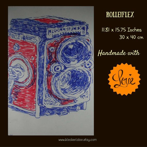 Let us grace your walls with this super stylish rolleiflex camera. Picture yourself behind the lens, while you travel the world, taking pictures of everything that you see. If you are a camera collector or a camera lover then this would be the perfect addition to your collection. Come on in and take some pictures!    Handmade  Size: 11.81 x 15.75 Inches   One of a kind | Shop this product here: spreesy.com/kleckerlabor_blog/13 | Shop all of our products at…