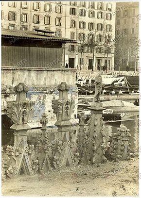 guglie del Duomo sulla darsena, 1940 | da Milàn l'era inscì