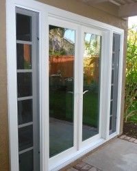 785 best images about for the home on pinterest fire for Sliding french doors with sidelights