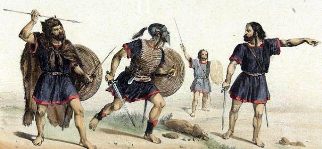 Guerrero Astur y guerreros Celtiberos.