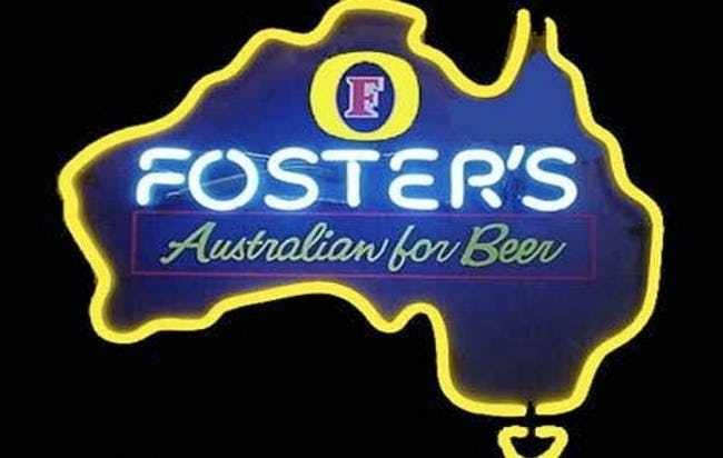 New York resident Leif Nelson is suing Foster's beer for deceiving them. Apparently, all of their ads featuring kangaroos and the Australian flags misled him to believe that his beloved beer was being brewed down under. In fact, Fosters is brewed in Ft. Worth, TX, and has been since 2011. Nelson says that he'll resume drinking his favorite beer when they properly label the cans, and stop falsely advertising their beer as Australian.