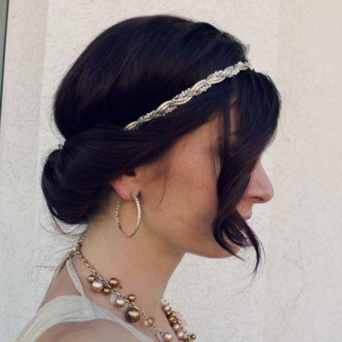 easy headband bun