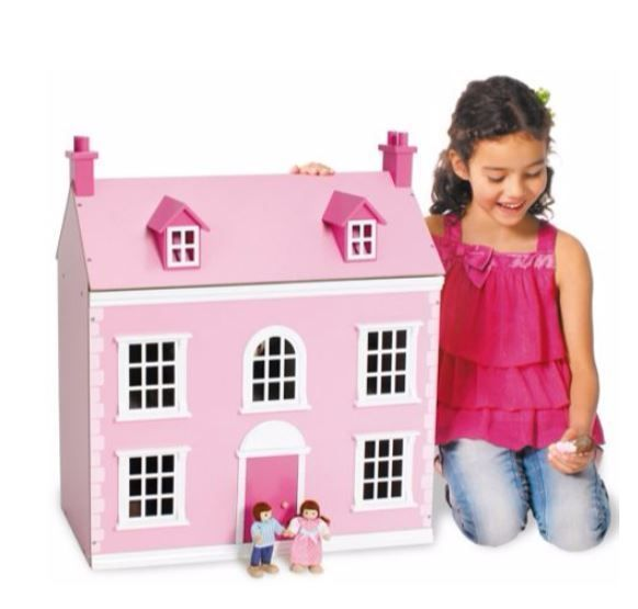 #Wooden #Dollhouse #Pink #Victorian #Dolls #House #Furniture 3 Storey Kit 12th New Set #Chad #Valley - FREE UK DELIVERY