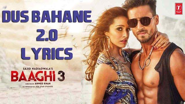Dus Bahane 2 0 Lyrics Baaghi 3 Vishal Shekhar Lyricsbet Com