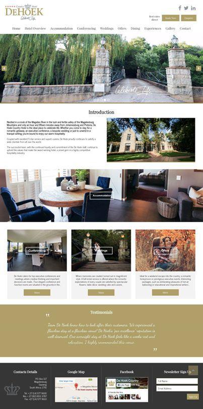 New De Hoek Country Hotel responsive website.