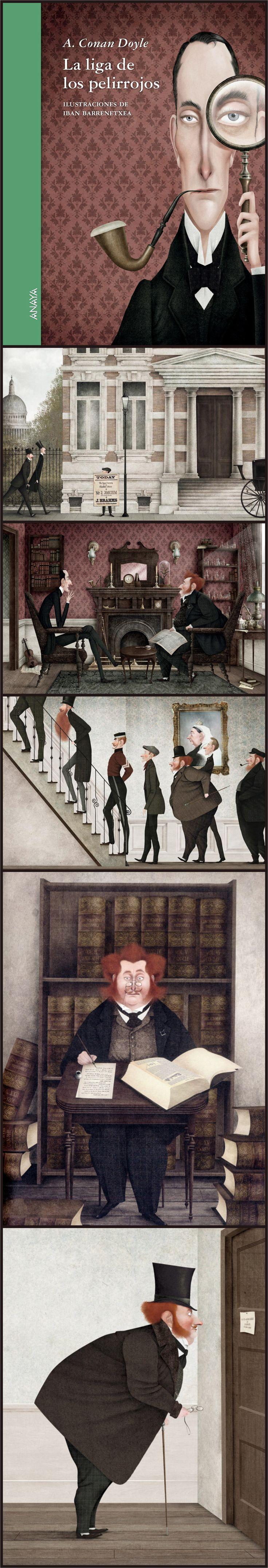 Arthur Conan Doyle. La liga de los pelirrojos. (The League of Red-Haired Men) Ilustrador:  Iban Barrenetxea.