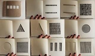 'Cuts' (2010) Japanese Stab Bind Book Paper, thread, ink.