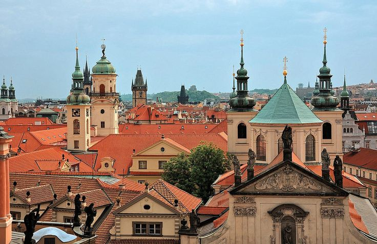 Prague : Roofs and bell-towers