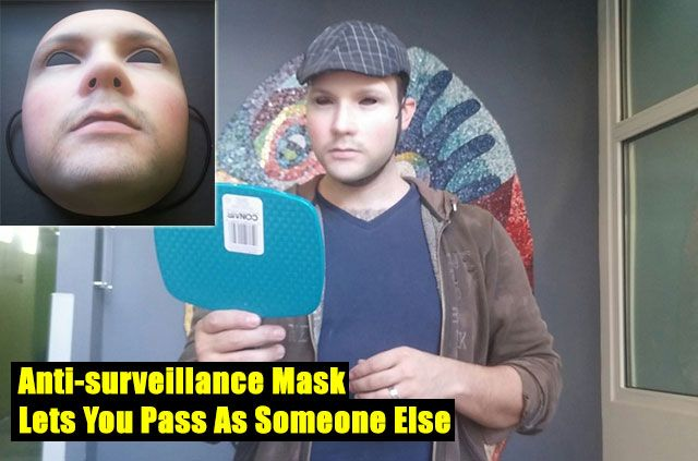 Anti-surveillance Mask Lets You Pass As Someone Else - Have you ever thought about how many cameras are on us all day everyday? The basic gist is that rather than hide from cameras, simply give them a face other than your own to track without drawing attention to yourself in a crowd.