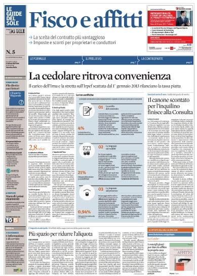 Le Guide de Il Sole 24 Ore - Fisco e affitto (2013/02/18) Italian | PDF | 4 Pages | 4,59 MB