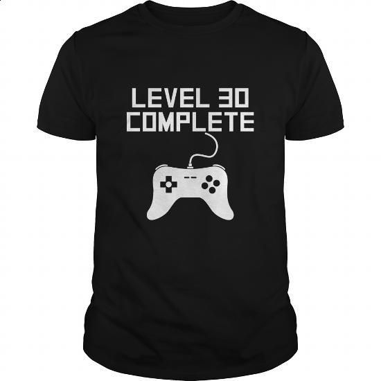 Level 30 Complete 30th Birthday - #teas #mens shirts. GET YOURS => https://www.sunfrog.com/Gamer/Level-30-Complete-30th-Birthday-Black-Guys.html?id=60505