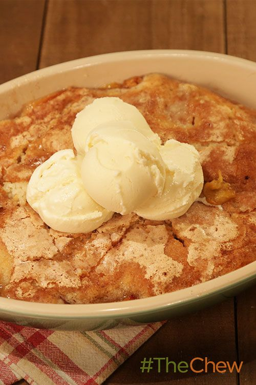 This peach cobbler is sweet & delicious & perfect for a summer dessert!