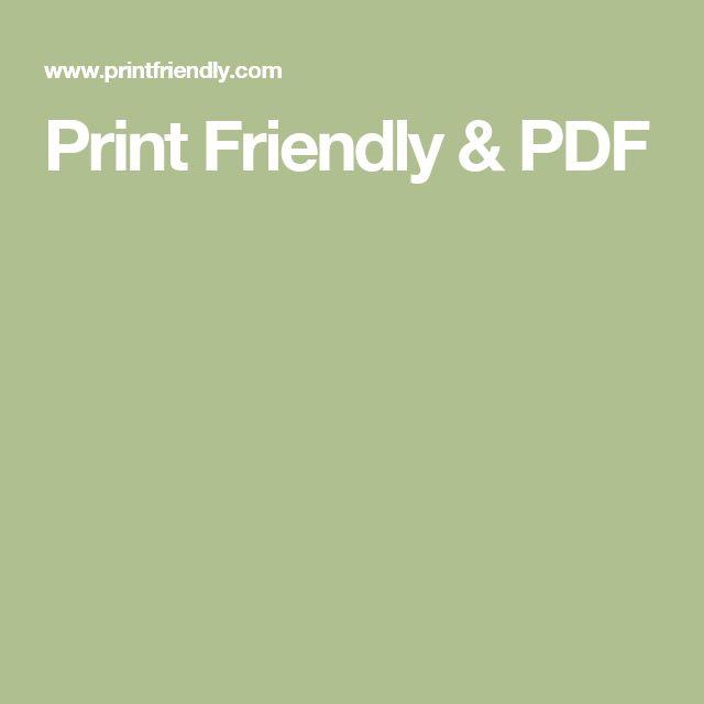 Print Friendly & PDF