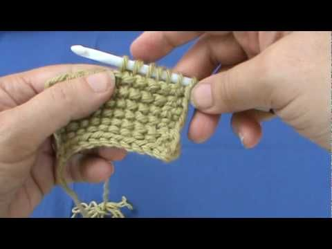 Tunisian Crochet Reverse Stitch - YouTube