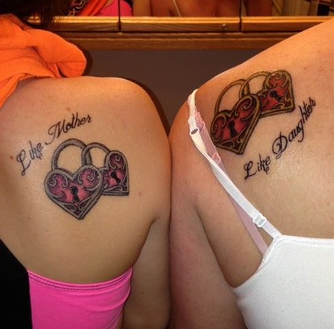 Godmother and goddaughter tattoos