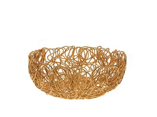 Funky Gold Wire Bowl.