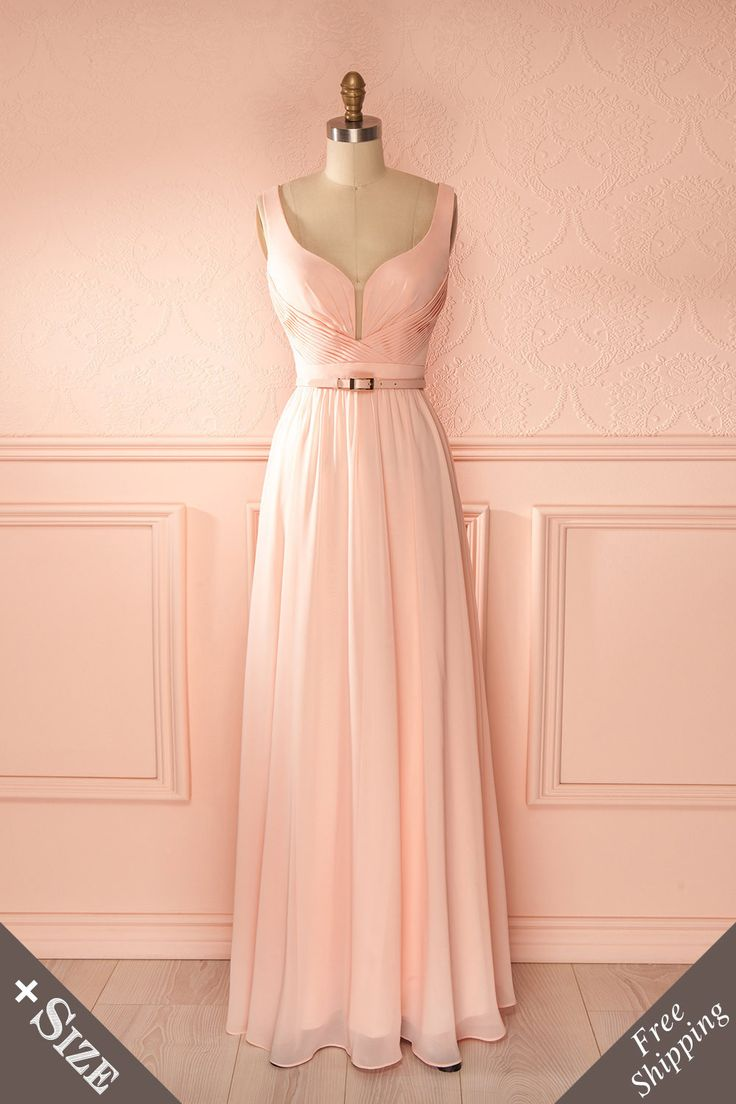 Euna Blush ♥ Pour ne pas détourner l'attention de votre doux visage, cette élégante tenue soulignera votre silhouette dans un fluide mouvement monochrome. In order not to divert attention from your sweet face, this elegant gown will highlight your figure in a fluid monochromatic motion.
