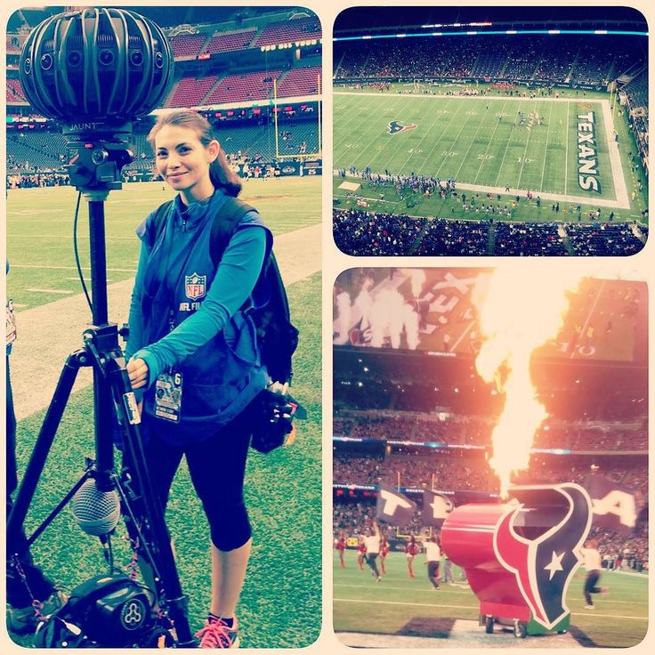 An awesome Virtual Reality pic! Last week I got to work with this amazing 360 VR camera during the Texans vs. Saints football game. Probably one of the coolest gigs I've ever been lucky enough to be apart of.  #vr #360filmmaking #nfl #presspass #texansfootball #virtualreality #jaunt #camerap0rn #cameraop #cameraassistant #ac #ladyops #newtechnology #ilovemyjob by kellysarah check us out: http://bit.ly/1KyLetq
