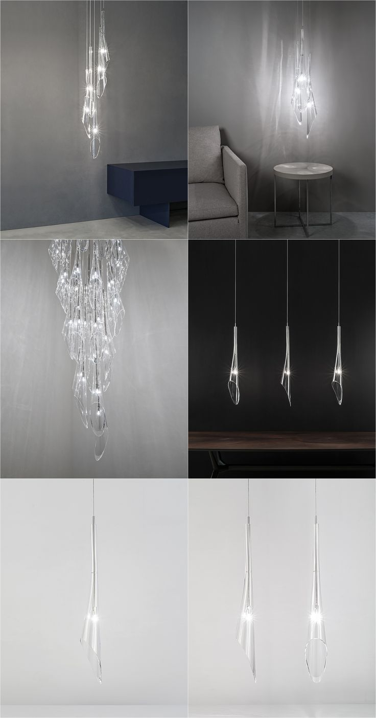 CALLE Crystal Slender Inverted Flute Pendant Light. Terzani | Design By  Luca Martorano U0026 Mattia