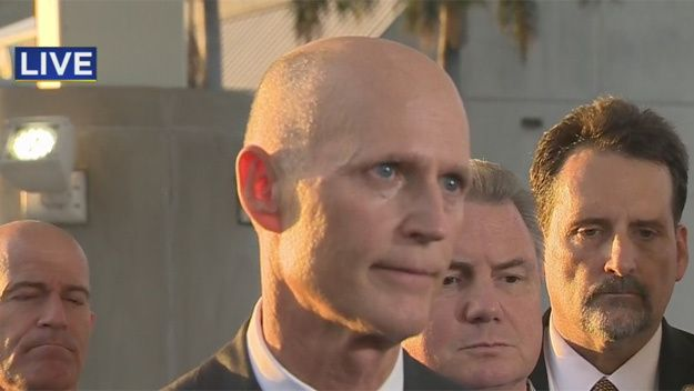 Florida Gov. Rick Scott said he talked with President-elect Donald Trump – and not with President Barack Obama – after a shooting left five people dead at the Fort Lauderdale airport.