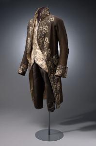 Evening Coat (habit à la française), 1790-1810, silk and velvet, Amsterdam Museum