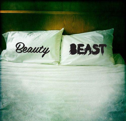 We need.: Pillows Cases, Beautiful Beast, Beauty Beast, Gifts Ideas, Pillowca, Disney, Beautybeast, The Beast, Wedding Gifts