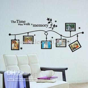 Wholesale-Photo Frame Vinyl Wall Decals Removable ART MURAL WALL Decoration Stickers X-37, $4.19   DHgate.com