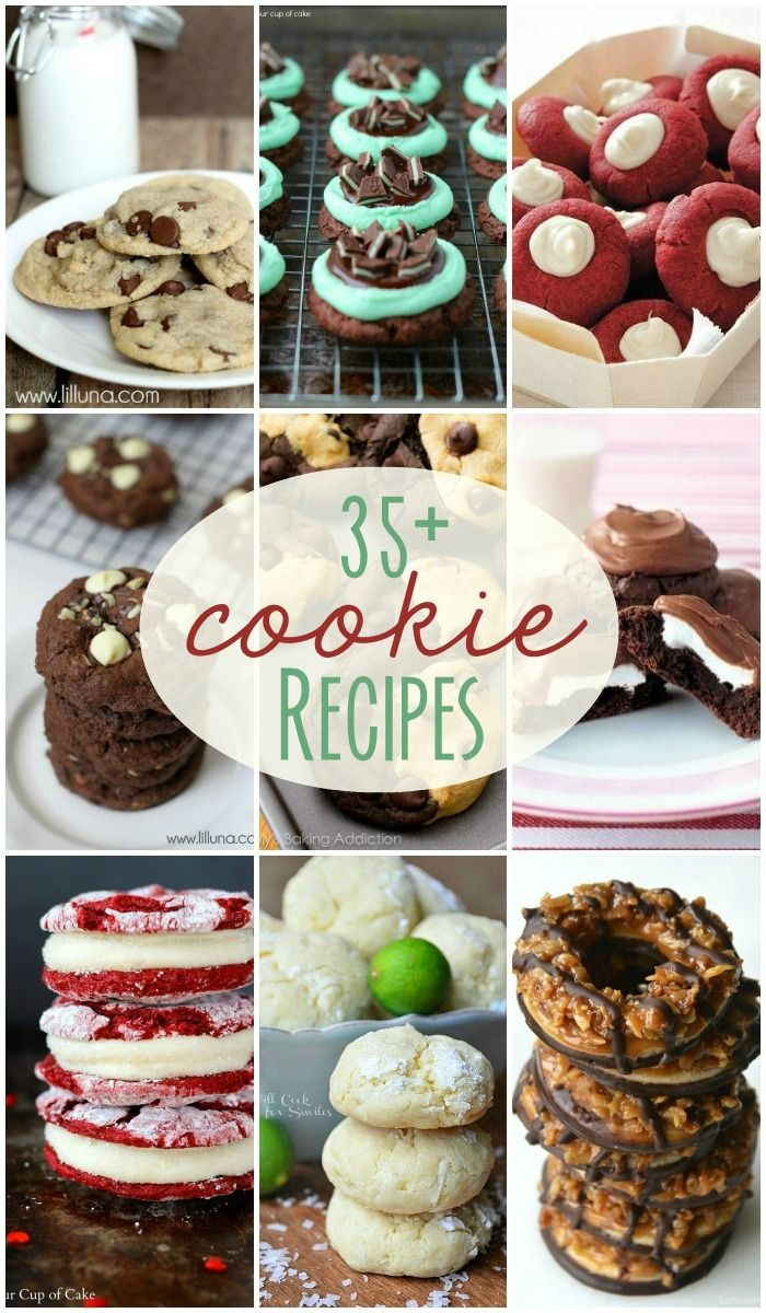 35+ Cookie Recipes - Perfect for cookie exhanges!! { lilluna.com }