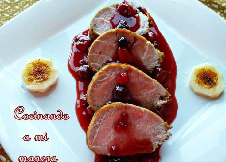 solomillo frutos rojos