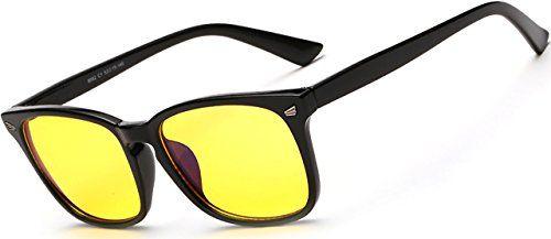 ATTCL® Computerbrille Entspiegelt Anti Glare Anti Reflective Brille Multi-Style Schwarz Rahmen H8082 C1