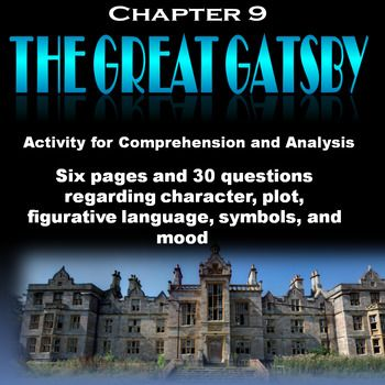 I used Microsoft Word 2007 to create this activity.  There are six pages with 30 questions (some with questions within the questions) discussing and analyzing plot, characterization, setting, and imagery. Many of the questions provide quoted material and require students to interpret.