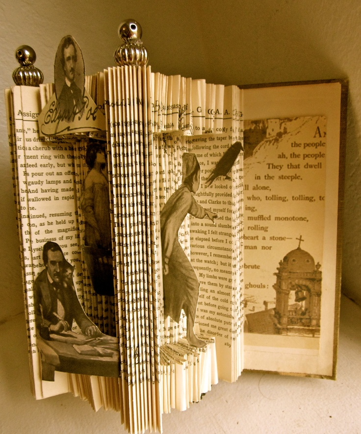 Edgar Allen Poe altered Book Great as Décor but a waste of a good book