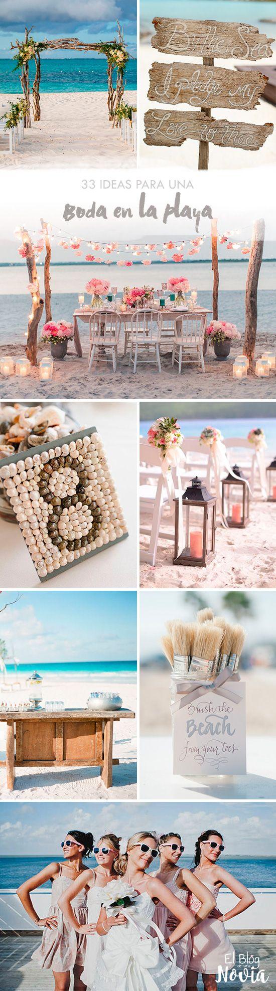 33 Ideas para una Boda en la Playa | El Blog de una Novia | #bodaplaya #boda…