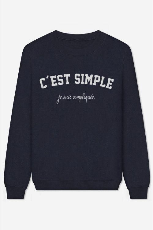 C'est Simple Je Suis Compliquée – brodé