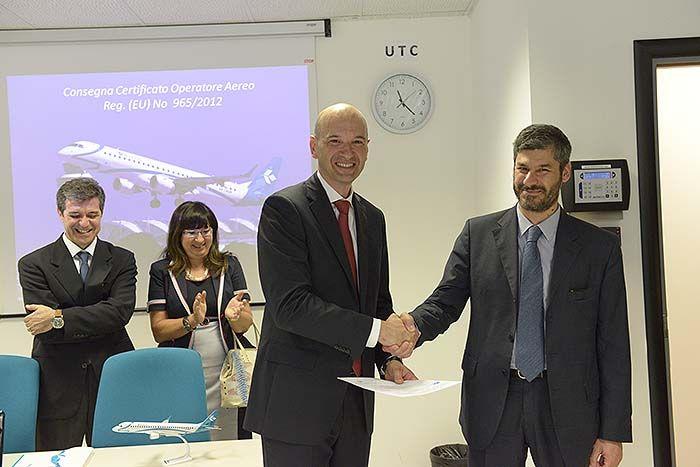 #AOC #Certificate #AirDolomiti #Enac