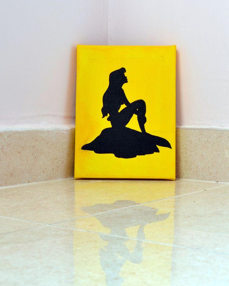 Principessa Disney Ariel Dipinto su tela от IlSognoDiHalima