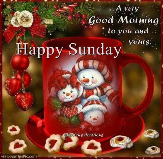Christmas Good Morning Happy Sunday Quote