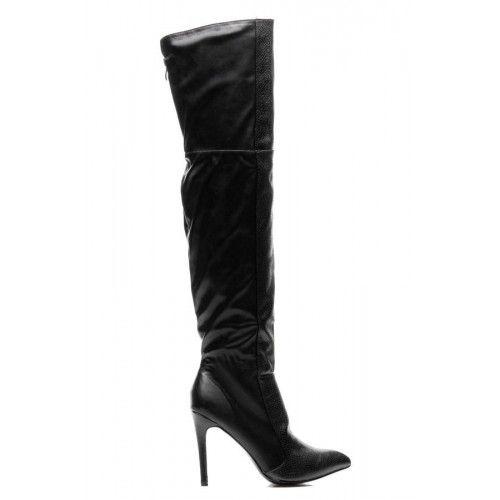 Dámské kozačky Comer Enif černé – černá Víme, co moderní ženy potřebují. Elegantní a zároveň svůdné černé kozačky se vzorem na přední straně. Kozačky jsou zateplené a stojí na vysokém podpatku, takže se budete cítit …